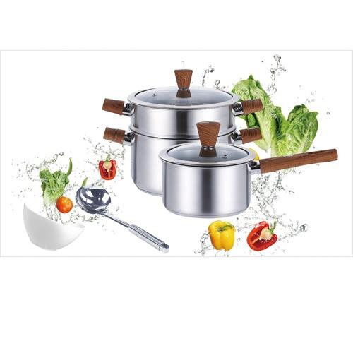 Koch Kitchen ชุดเครื่องครัวสเตนเลส 4 ชิ้น APPLE