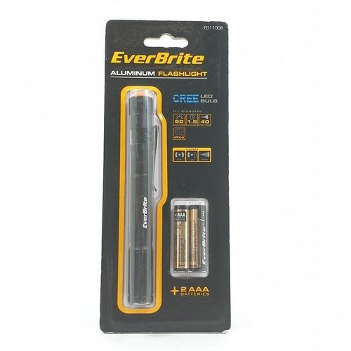 - ไฟฉาย รุ่น E011008 ขนาด 1.6x13.8x2 cm  EVERBRITE สีดำ E011008 สีดำ