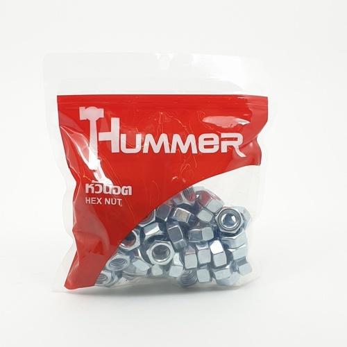 HUMMER หัวน็อต HM ขนาด M12 (เกลียงมิล)  HN-M12 สีโครเมี่ยม