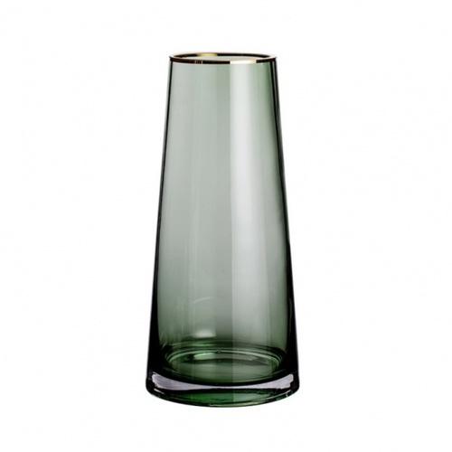 COZY แจกันแก้ว ขนาด 12x22 ซม. Green-S  สีเขียว