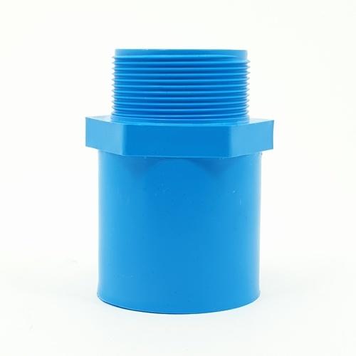 AAA  ข้อต่อตรงเกลียวนอก หนา 2 นิ้ว (55)  ชั้น 13.5  สีฟ้า