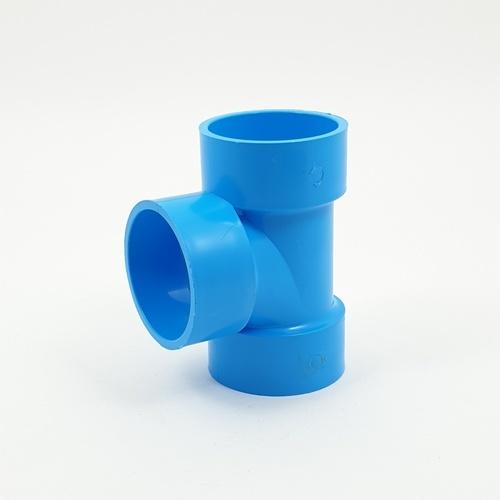 AAA สามทางลด  แบบบาง 1 1/2นิ้ว (40) ชั้น 8.5 (แพ็ค4) สีฟ้า