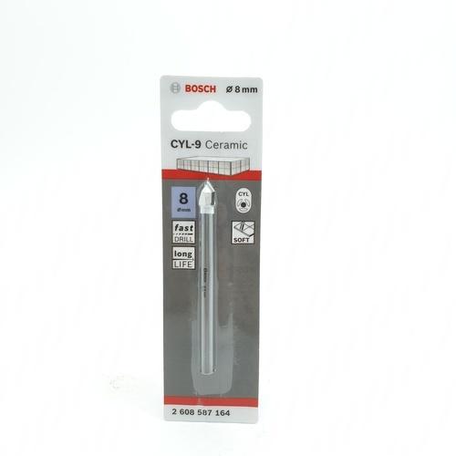 BOSCH ดอกเจาะกระเบื้อง  Tile drill bit 8 x 80 mm (1) เทา-ขาว