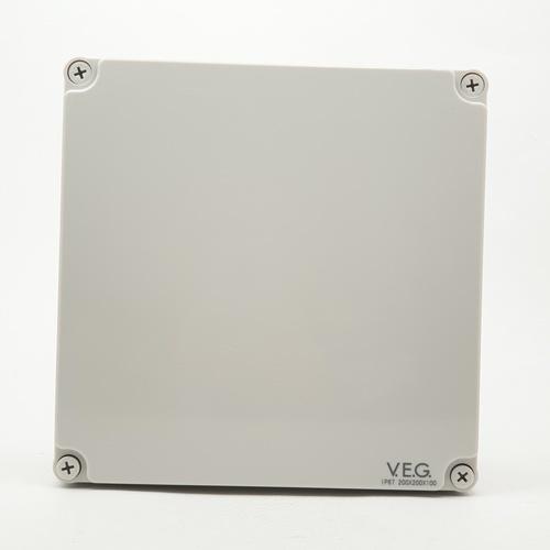 V.E.G กล่องกันน้ำพลาสติกTHE-08 200x200x100mm. V.E.G  ขาว
