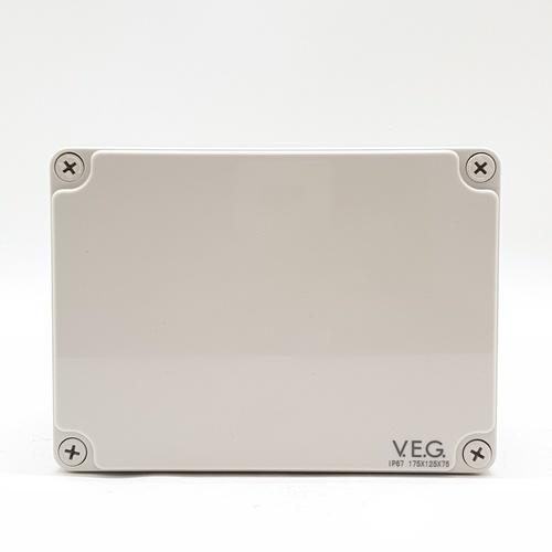 V.E.G กล่องกันน้ำพลาสติกTHE-13 175x175x75mm. V.E.G  ขาว