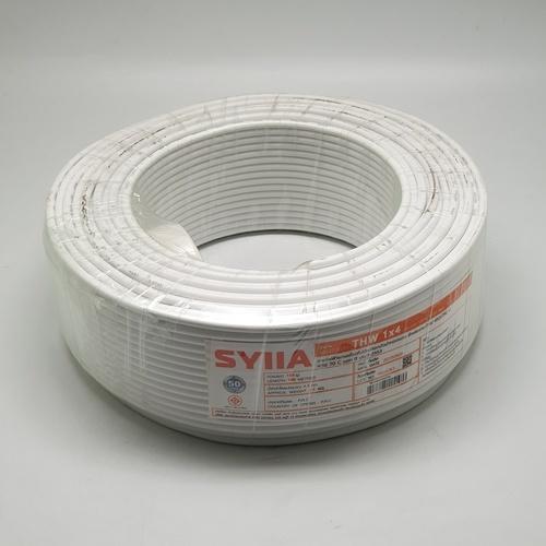 SYLLA สายไฟ 60227 IEC01  THW 1x4 Sq.mm.100m. สีขาว