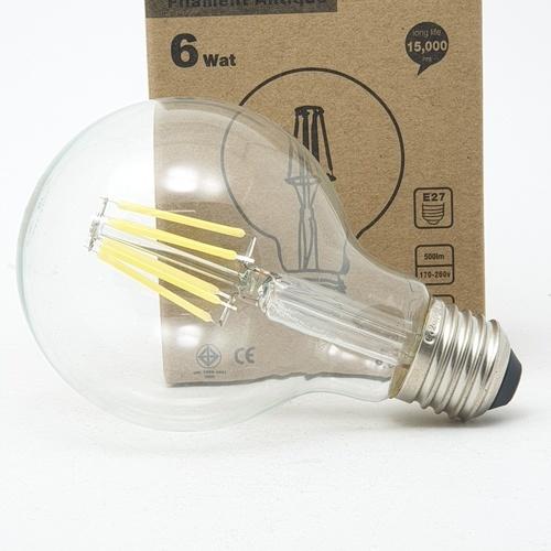 G-LAMP หลอด LED Filament Globe 6W,E27 ADS-DP39