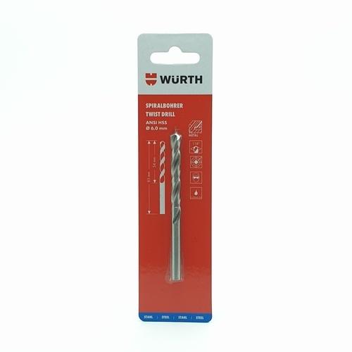 WUERTH ดอกสว่านเจาะเหล็ก 6 mm.  HSS