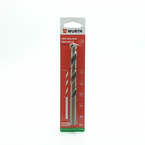 WUERTH ดอกสว่านเจาะสเตนเลส ขนาด 12.0 mm. DIN 338 /HSCO 12.0 mm.
