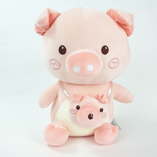USUPSO  ตุ๊กตาหมูน้อย Bubble Pig  35 ซม. สีชมพู