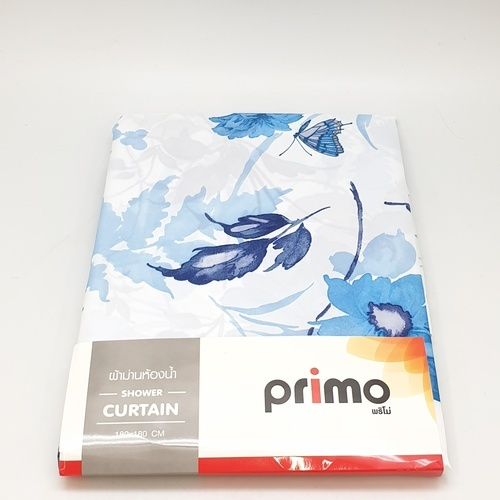 PRIMO ผ้าม่านห้องน้ำ (Polyester) รุ่น HST0405 ลาย ผีเสื้อกลางวัน HST0405