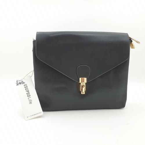 USUPSO กระเป๋าสะพายข้าง  สีดำ