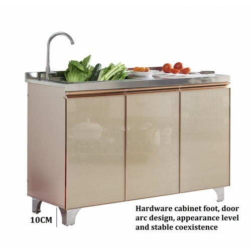 Koch Kitchen  ตู้พร้อมซิงค์ 1 หลุมไม่มีที่พัก ขนาด 120x50x80ซม.  Blinks