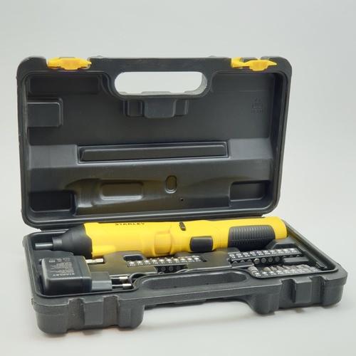 STANLEY ไขควงไฟฟ้าไร้สาย 4V.+ชุดอุปกรณ์ 30 psc.  SCS4K-B1 สีเหลือง