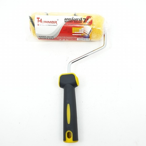 HUMMER ลูกกลิ้งทาสี 7นิ้ว G-014  DTPT364 สีเหลือง
