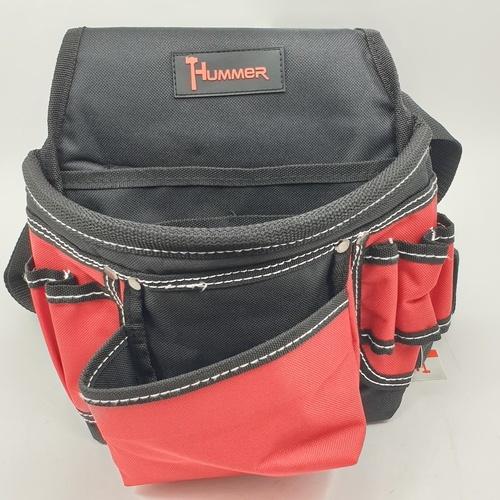 HUMMER กระเป๋าเครื่องมือช่างคาดเอว พร้อมเข็มขัด JR-CB07 สีแดง-ดำ JR-CB07