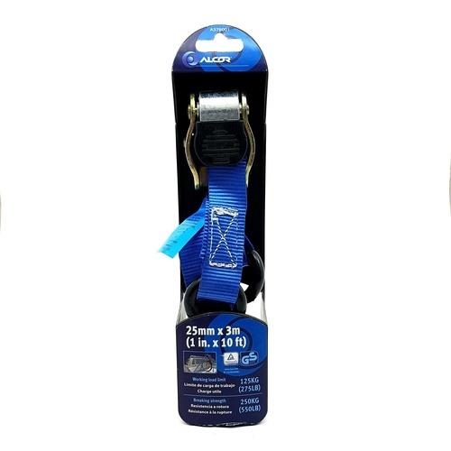 ALCOR สายยก 3m.x25mm. 125KG. A376001 สีน้ำเงิน