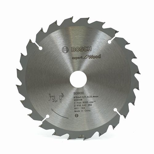 BOSCH ใบเลื่อยวงเดือน CSB Expert for wood (7 1/4 inch X 24 T) เงิน