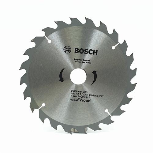 BOSCH ใบเลื่อยวงเดือน Ecoตัดไม้ 7 1/4 24T สีโครเมี่ยม