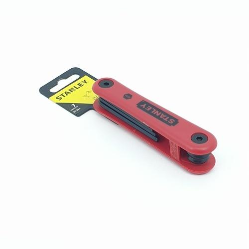 STANLEY ประแจหกเหลี่ยม7ตัว/ชุด69-261พับได้ ประแจหกเหลี่ยม7ตัว/ชุด69-261พับได้ สีแดง