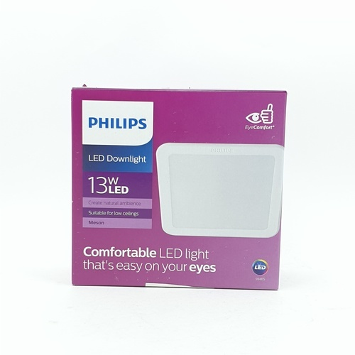 PHILIPS โคมดาวน์ไลท์แอลอีดี 59465 เมสัน 5 นิ้ว  13W แสงเหลือง  แบบเหลี่ยม สีขาว