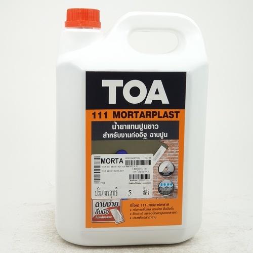 TOA น้ำยาผสมปูน(งานก่ออิฐฉาบปูน) มอร์ต้าพลาส-5L.