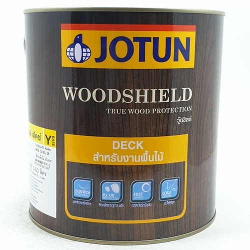 JOTUN งานพื้น ชนิดเงา3.6 ลิตร WOODSHIELD DECK GL เหลือง