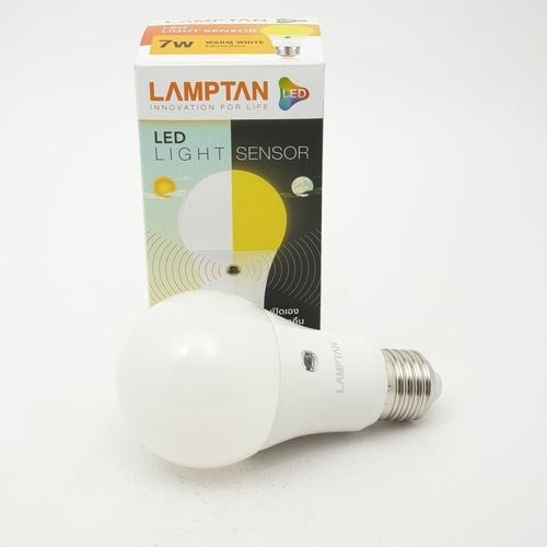 LAMPTAN หลอด LED Light Sensor  7W.WW  สีขาว