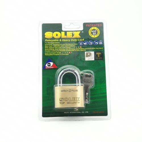 SOLEX กุญแจคล้อง ขนาด  50 มม. MACH II 50 MM