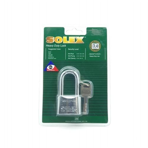 SOLEX กุญแจคล้อง  MACHIICRL ขนาด 40MM.PLUS สีทอง