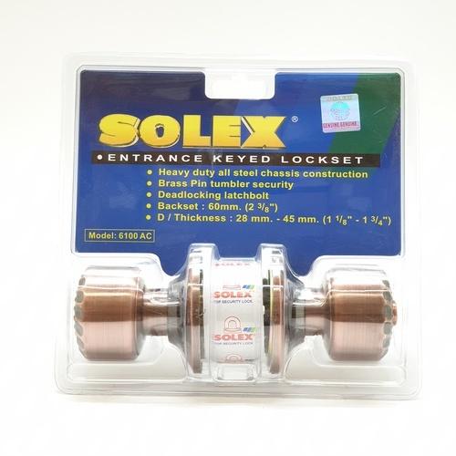 SOLEX ลูกบิดลายไม้ 6100AC สีแดง