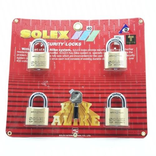 SOLEX  กุญแจคล้อง KEY ALIKE 4:1 MACH II  ขนาด  40 MM