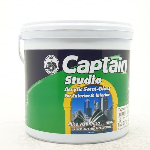 CAPTAIN สีน้ำกัปตัน สตูดิโอ เบส C 1gl. (กึ่งเงา)