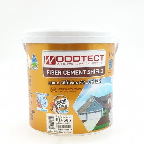 WOODTECT สีไม้ฝา ไฟเบอร์ซีเมนต์ FD-505 โอ๊ค
