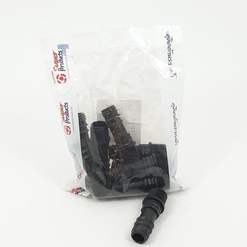 Super Products ข้อต่อแปลงเกลียวนอก 20มม.x1/2นิ้ว (10ตัว/แพ็ค) SM ดำ