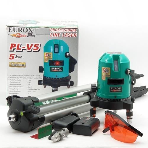 EUROX เครื่องเลเซอร์วัดระดับ พร้อมขาตั้ง PL-V5