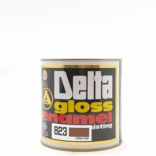 DELTA สีเคลือบน้ำมันเงา  823 น้ำตาลแดง