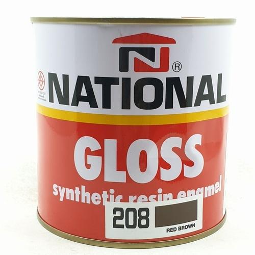 NATIONAL สีเคลือบน้ำมันเงา 208 น้ำตาลแดง