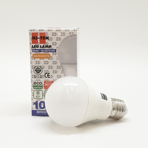 HI-TEK หลอด LED ECO Series 10W.  E27 แสงนวล