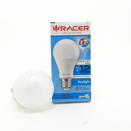RACER หลอดไฟ LED A60 12W แสงขาว E27 13101LEDDB00026 สีขาว