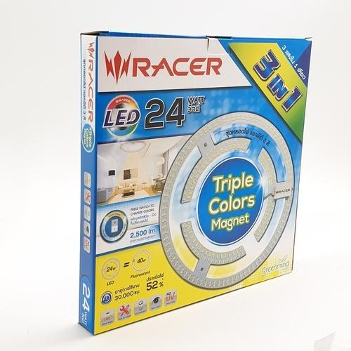 RACER แอลอีดี แม็กเน็ต 3สี  24 วัตต์ แสงขาว