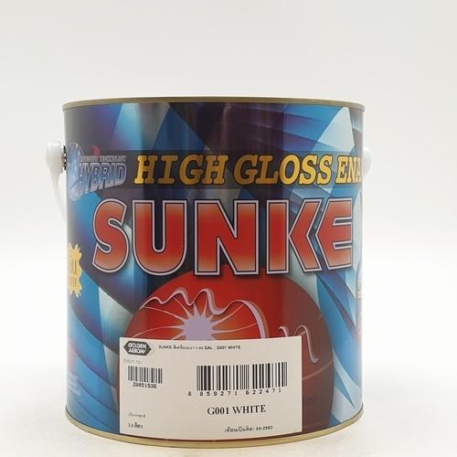SUNKE สีเคลือบเงา G001 สีขาว