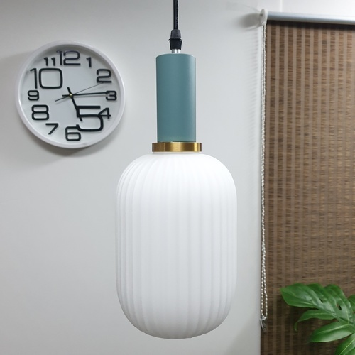 EILON  โคมไฟแขวนกระจกลอฟท์ ZS-050 สีขาว
