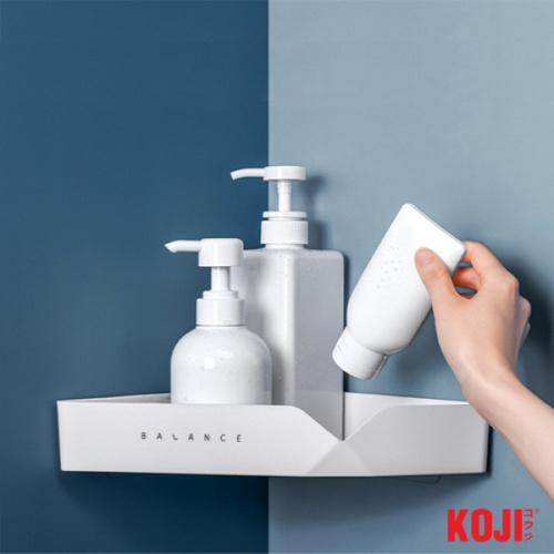 KOJI DIY ชั้นวางอุปกรณห้องน้ำเข้ามุมติดผนัง ขนาด 18.5x31x5 cm. 2JYS016-WH