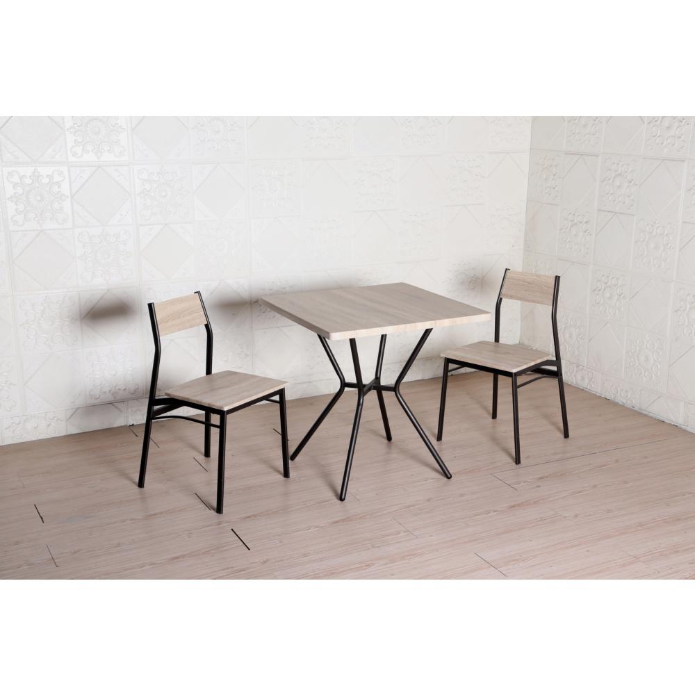 Delicato ชุดโต๊ะอาหาร 2 ที่นั่ง โต๊ะ : 75X75ซม. เก้าอี้: 42X42X81ซม. B01061A สีน้ำตาลอ่อน