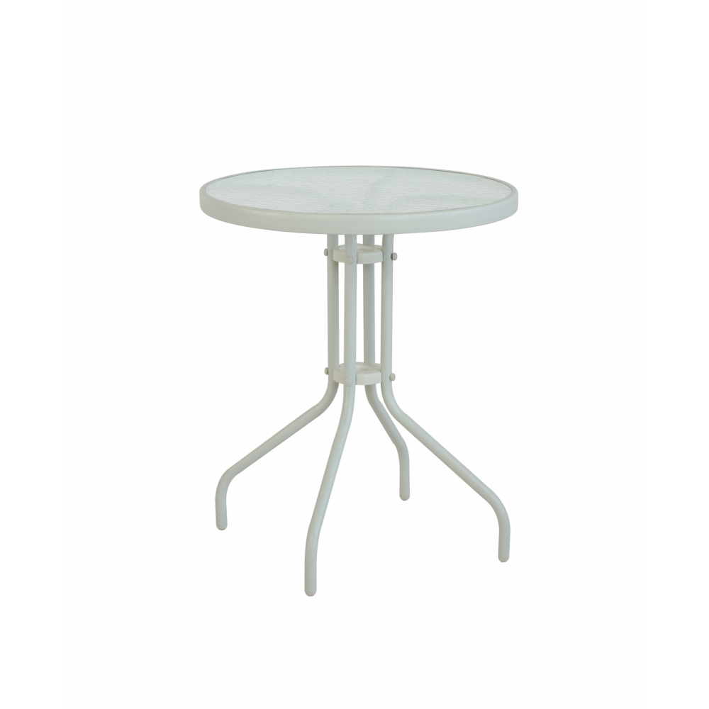 SUMMER SET โต๊ะเหล็กกลม  ขนาด60x60x70 ซม.  สีขาว