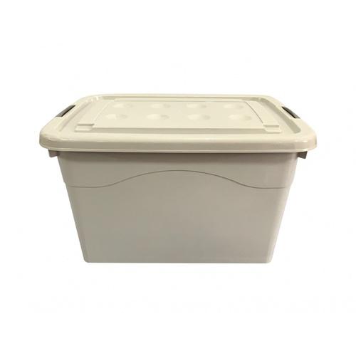 GOME กล่องพลาสติกมีล้อ 170 ลิตร  ขนาด 43x70.5x52ซม.  2BEZ048-GR สีเทา