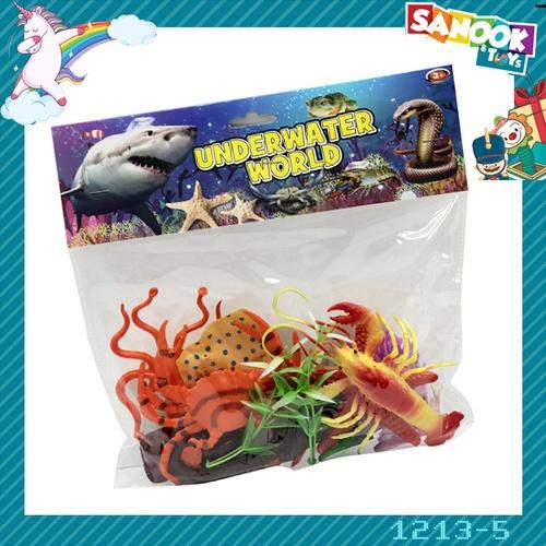 Sanook&Toys ชุดสัตว์ทะเล #1213-5 (26x26x4 ซม.)  คละสี