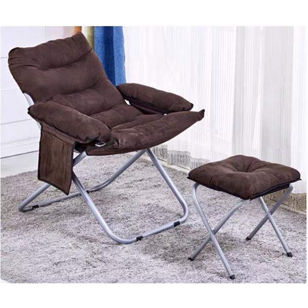 Pulito เก้าอี้พักผ่อนพร้อมที่วางขา   FC2-BN น้ำตาล