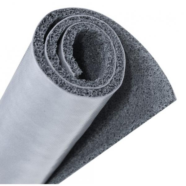 GRAFFE พรมดักฝุ่น PVC  พื้นหลังเรียบ  ขนาด 122*150*1.2 ซม.  สีเทา